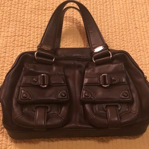 Cromia Chocolate leather handbag